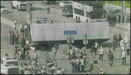 Bus crash in Hong Kong